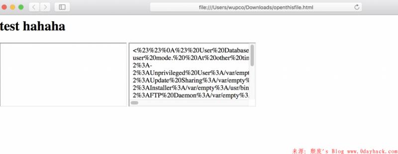 safari本地文件读取漏洞之扩展攻击面