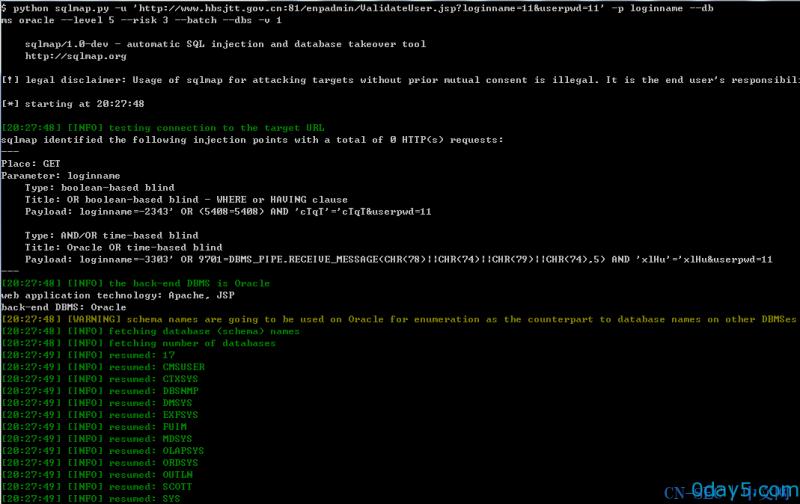 北大方正翔宇CMS系统通用型SQL注入漏洞