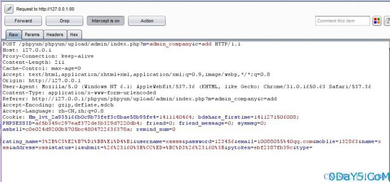 phpyun#csrf添加企业用户