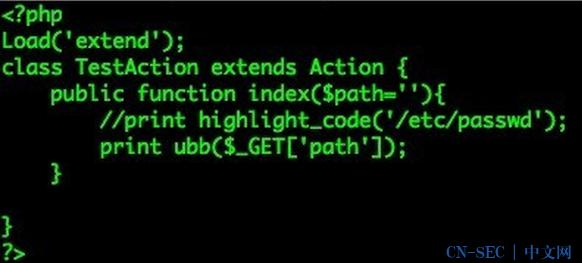 ThinkPHP的Ubb标签漏洞读取任意内容