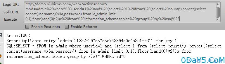 NiubiCMS通杀SQL注入一枚