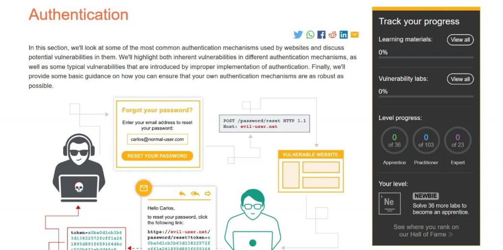 「Burpsuite练兵场」Portswigger Web Security Academy介绍