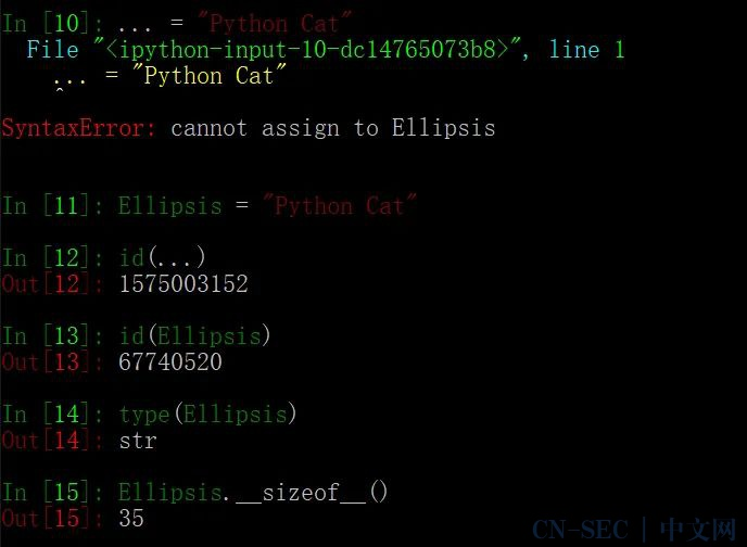 """Python 为什么会有个奇怪的""""...""""对象?"""