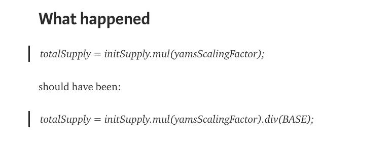 DeFi YAM,一行代码如何蒸发数亿美元?