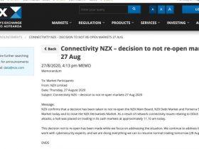 新西兰证券交易所遭到DDoS攻击:连续关闭三天!