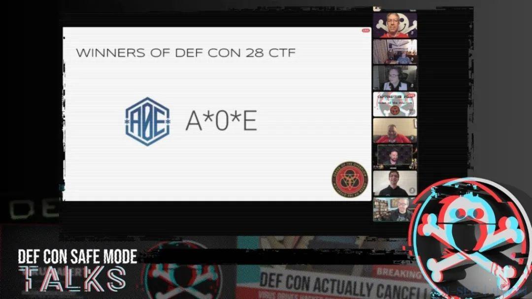 腾讯A*0*E联合战队斩获DEF CON CTF 2020决赛总冠军,刷新中国战队新纪录!