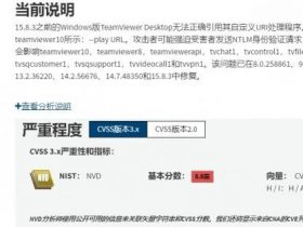 TeamViewer曝漏洞 计算机浏览特定网页即可被无密码入侵