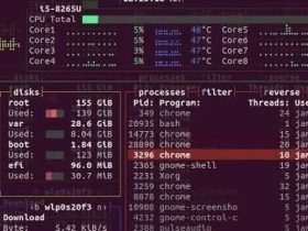 Bashtop – Linux的资源监视工具