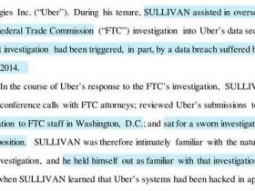 因隐瞒黑客攻击并付保密金,Uber前首席安全官遭美司法部起诉