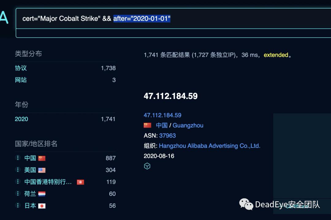 关于Cobalt Strike检测方法与去特征的思考