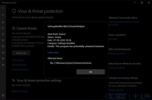 微软强制阻止用户屏蔽Win10遥测数据;.NET库生成恶意Excel文件可绕过安全检测;美16岁少年8次DDoS攻击硬核逃课