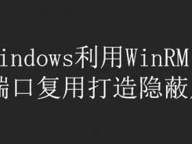 内网渗透   红蓝对抗:Windows利用WinRM实现端口复用打造隐蔽后门
