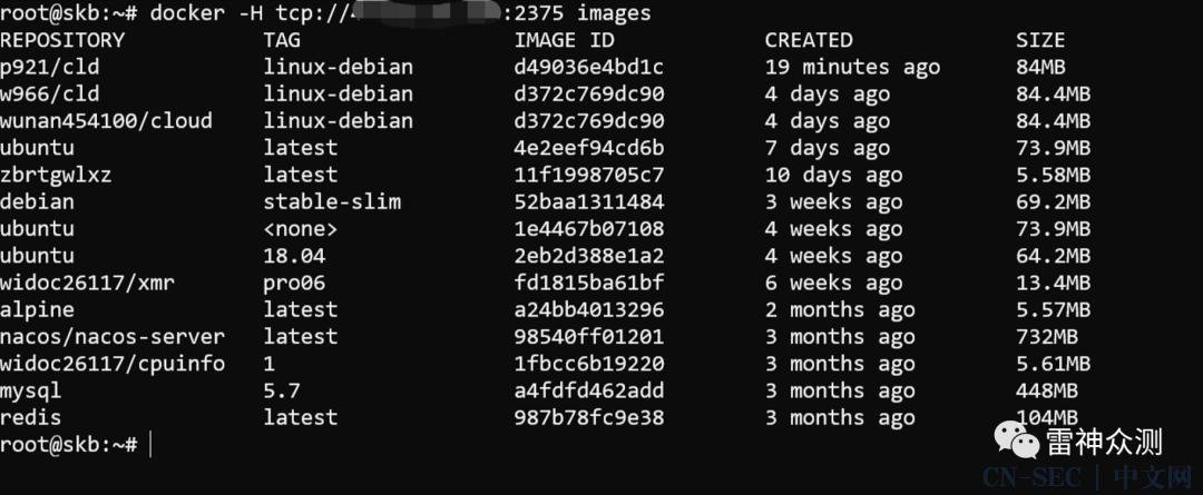 Docker daemon api 未授权访问漏洞