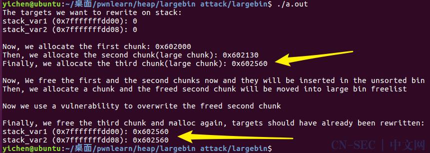 PWN:Largebin Attack