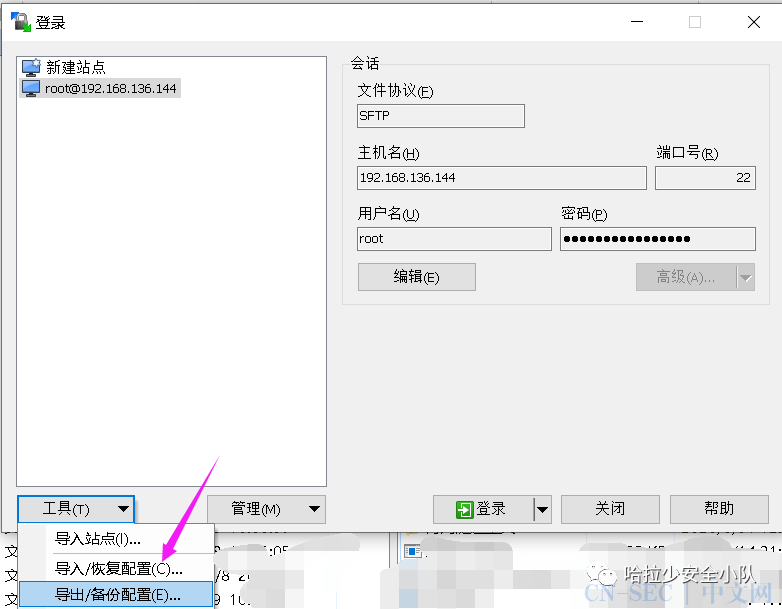 常见连接工具保存密码获取