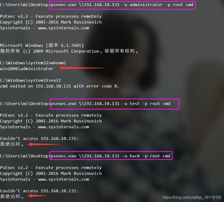 内网渗透(十五) | psexec工具使用浅析(admin$)