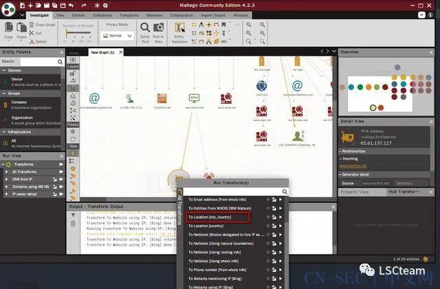 工具 | Maltego 强大的信息收集工具