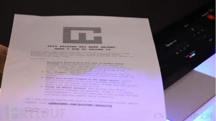 """在全球范围内成功劫持28000台打印机,只为打印一份""""安全指南""""?"""