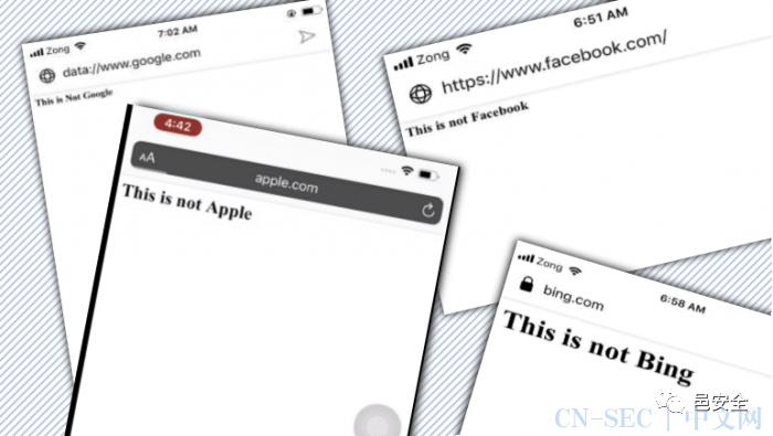 安全人员发现七款手机浏览器易遭地址栏欺骗攻击