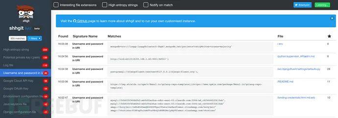 研究人员如何使用Shhgit搜索GitHub中的敏感数据