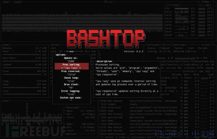 Bashtop:一款功能强大的LinuxOSXFreeBSD资源监控工具