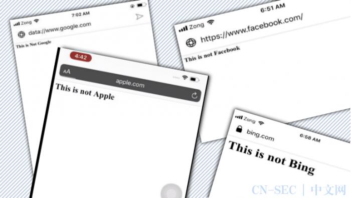 【安全圈】安全人员发现,7款手机浏览器容易受到地址栏欺骗攻击