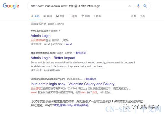 新google haking