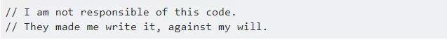 39 个奇葩代码注释