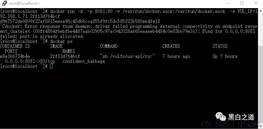 Docker简单搭建Vulfocus靶场