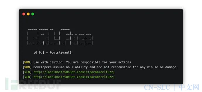 CRLFuzz:一款基于Go的CRLF漏洞快速扫描工具