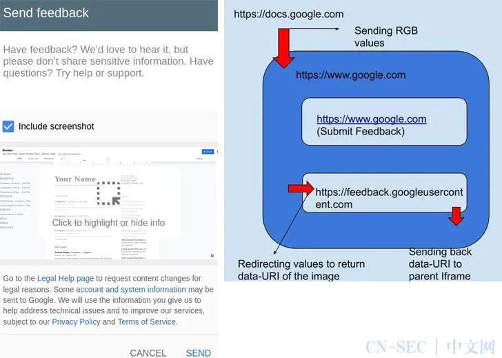 Google Docs漏洞可窃取私有文档截图