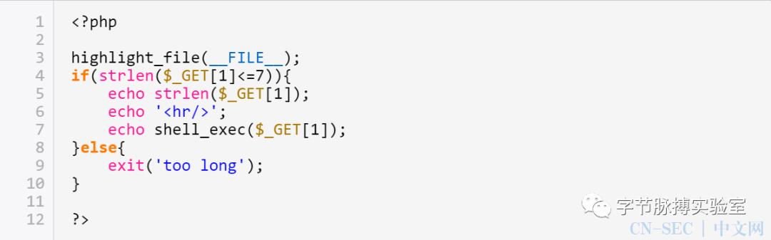 有限字符下的任意命令执行总结