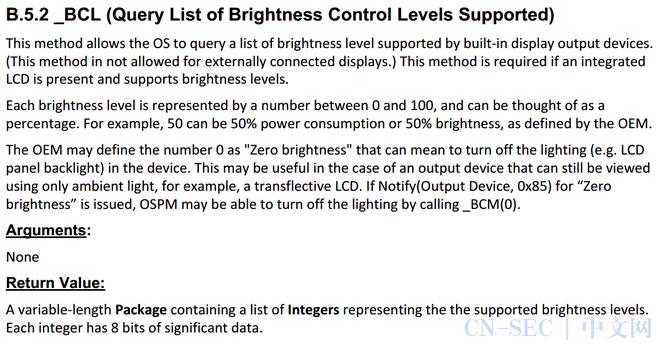 Windbg跟踪ACPI亮度设定