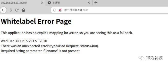 Spring Framework 反射型文件下载漏洞(CVE-2020-5398)复现