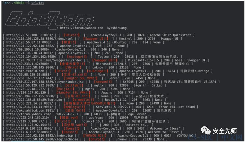 【工具篇】-EHole(棱洞)-红队重点攻击系统指纹探测工具