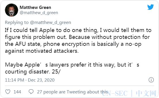 专家推测执法机构是如何破解 iPhone 强大的加密并提取数据的