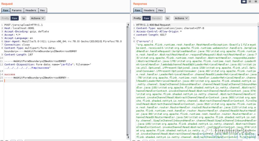 CVE-2020-17518&17519:Flink两个漏洞复现
