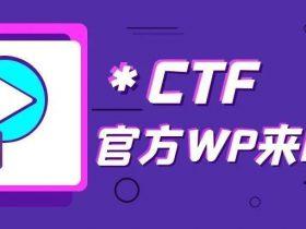 速看!*CTF官方Writeup来啦!