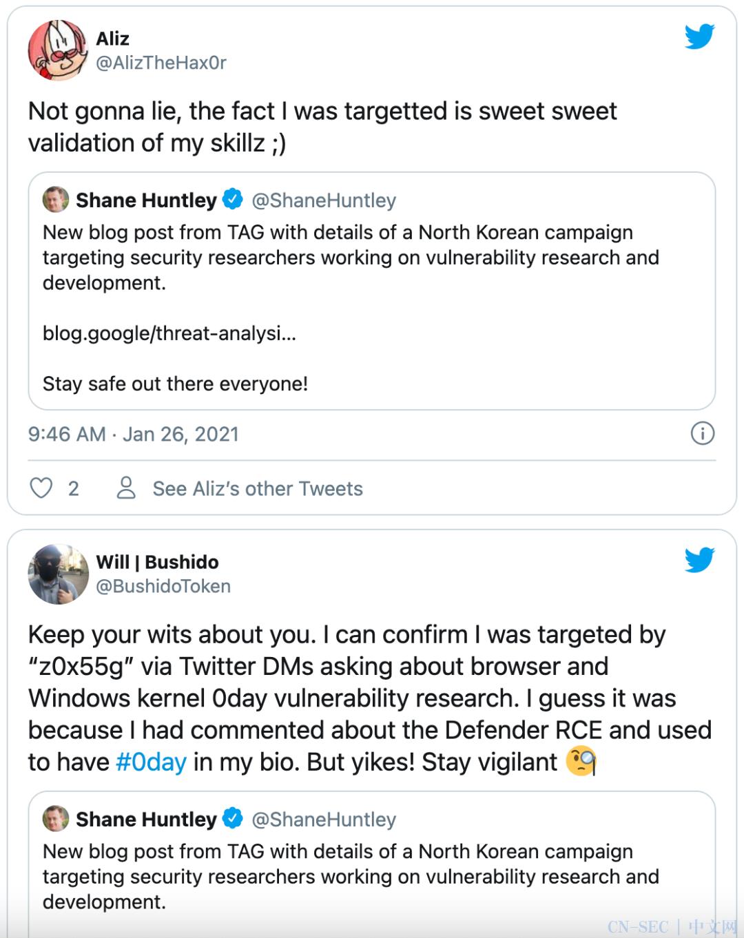 不讲武德 | 朝鲜黑客打着安全研究的旗号社工安全研究人员