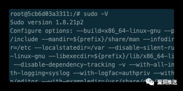 【漏洞预警】sudo堆溢出漏洞通告(CVE-2021-3156)含部分POC