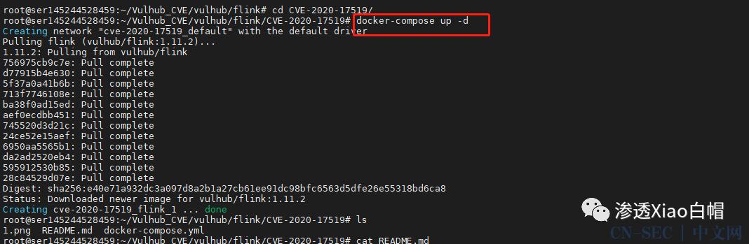 【漏洞复现】Apache Flink CVE-2020-17519
