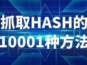 抓取HASH的10001种方法