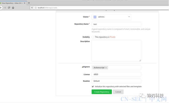 gitea 1.4 未授权远程代码执行漏洞复现