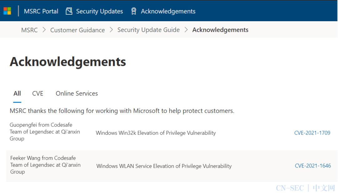 【安全风险通告】奇安信代码安全实验室贡献两枚漏洞,微软1月补丁日多个产品高危漏洞安全风险通告